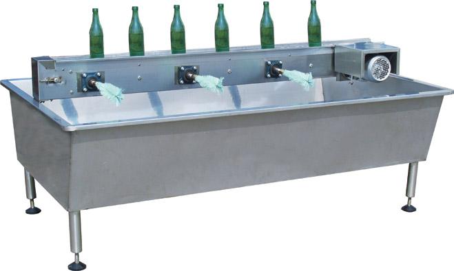 六头轨道式刷瓶机,六头水槽式刷瓶机,六头卧式简易刷瓶机