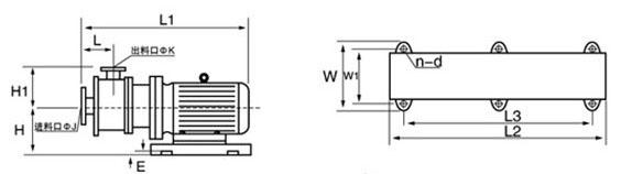 管线式高剪切乳化机结构示意图